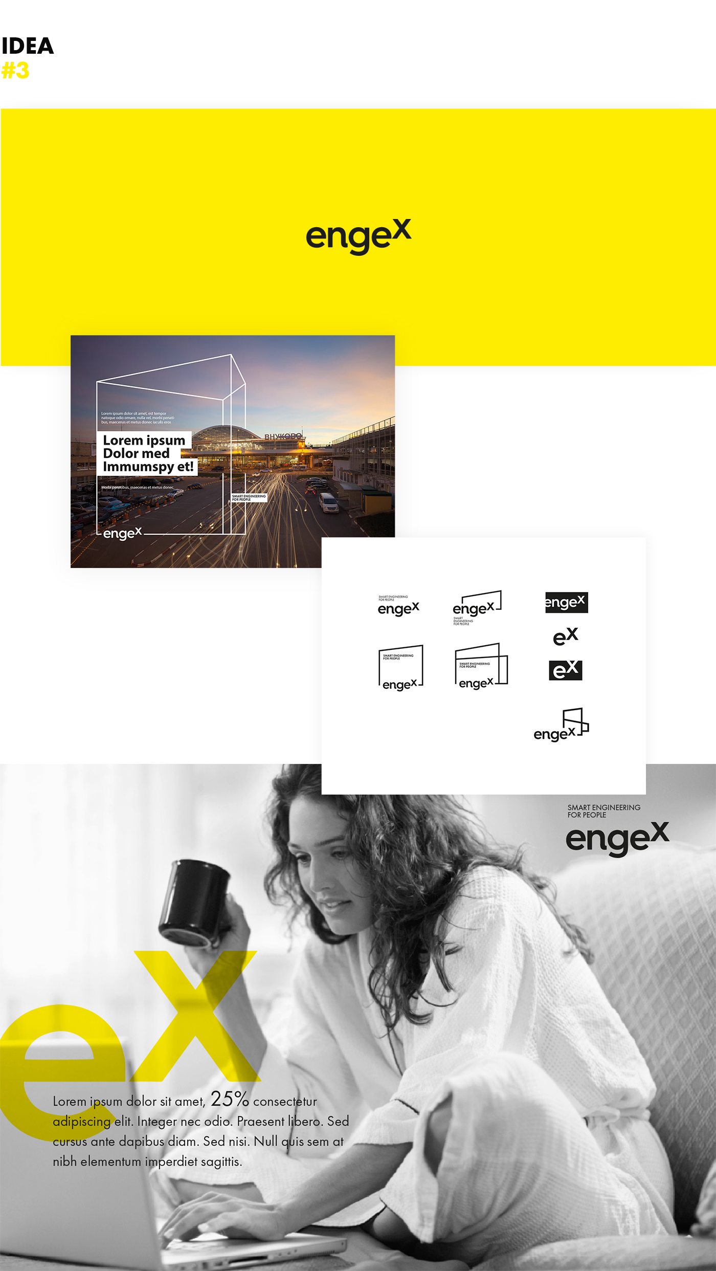 The third web design proposal for the Engex website