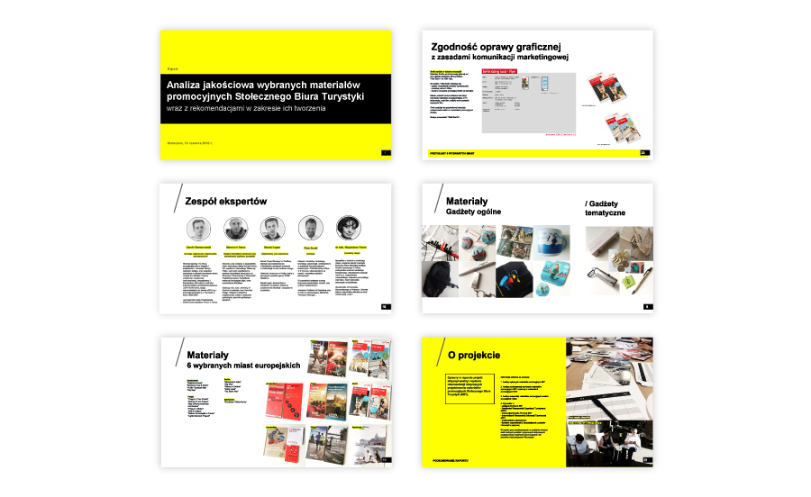 content of the report on qualitative research on promotional materials of Warsaw