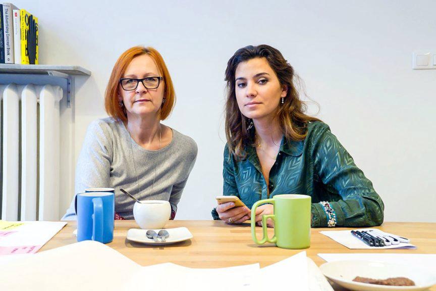 Anna Kupiecka and Adrianna Sobol from the Onkocafe foundation