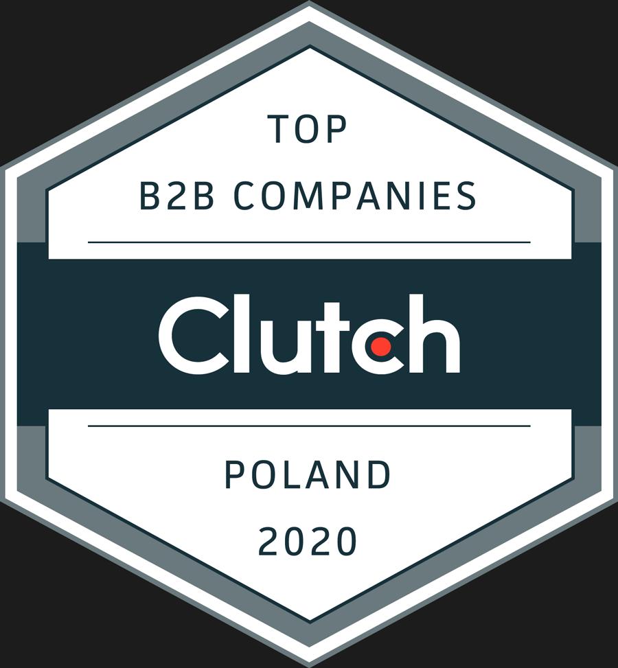 Nagroda Clutch 2020 dla Top B2B Companies