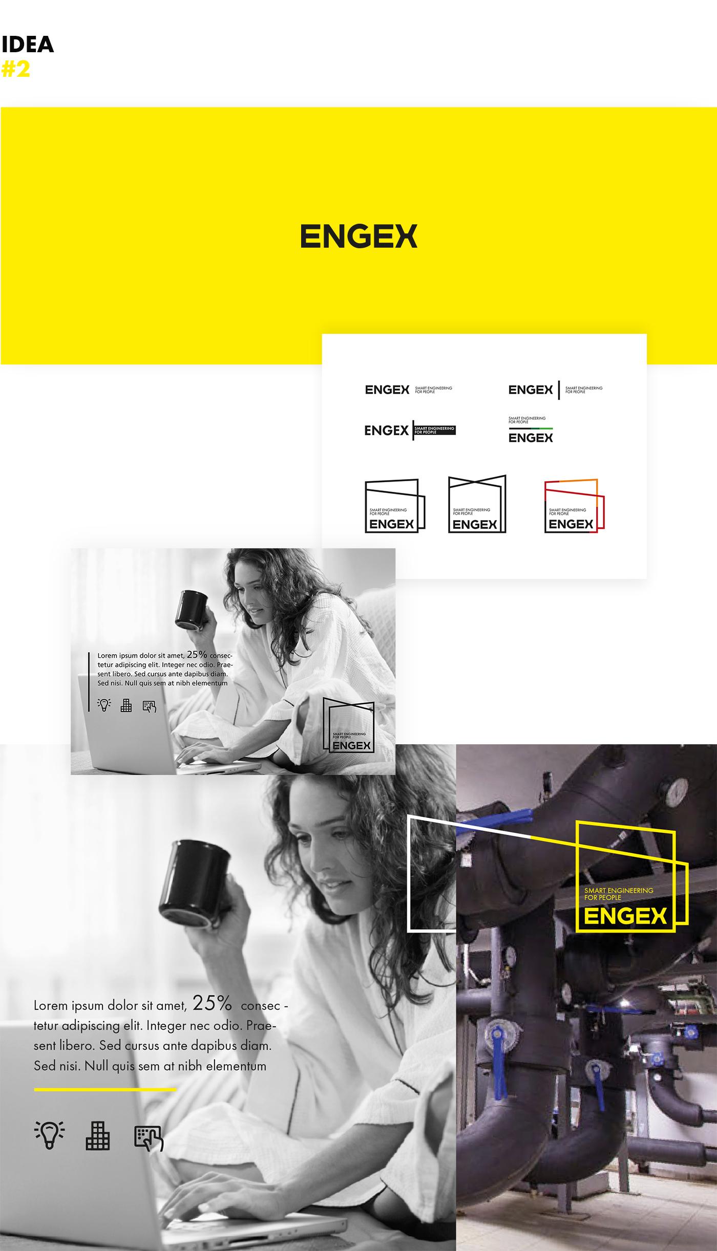 Druga propozycja web designu serwisu internetowego Engex