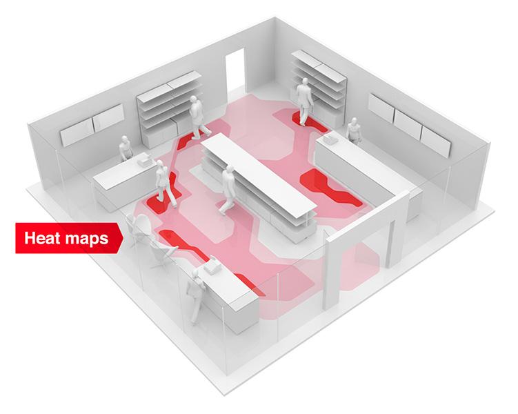 heatmapa zachowań konsumentów w sklepie stacjonarnym