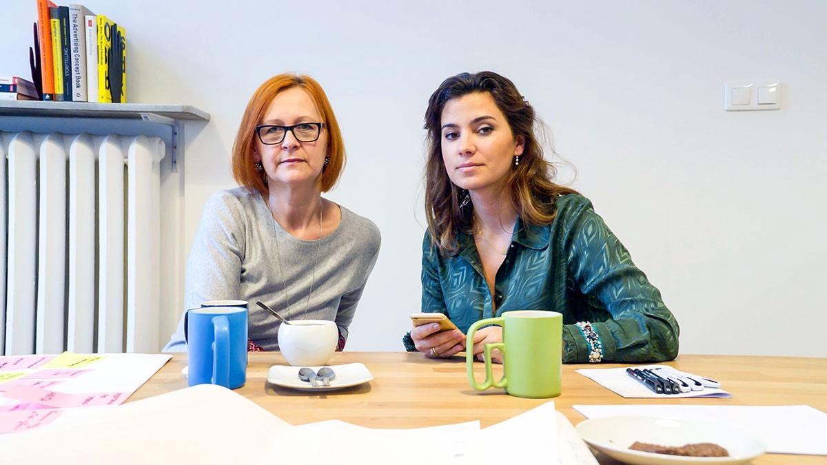 Anna Kupiecka i Adrianna Sobol z fundacji Oncocafe