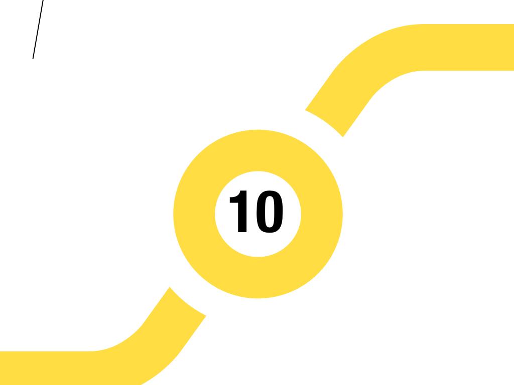 czarna liczba dziesięć w żółtym kółku