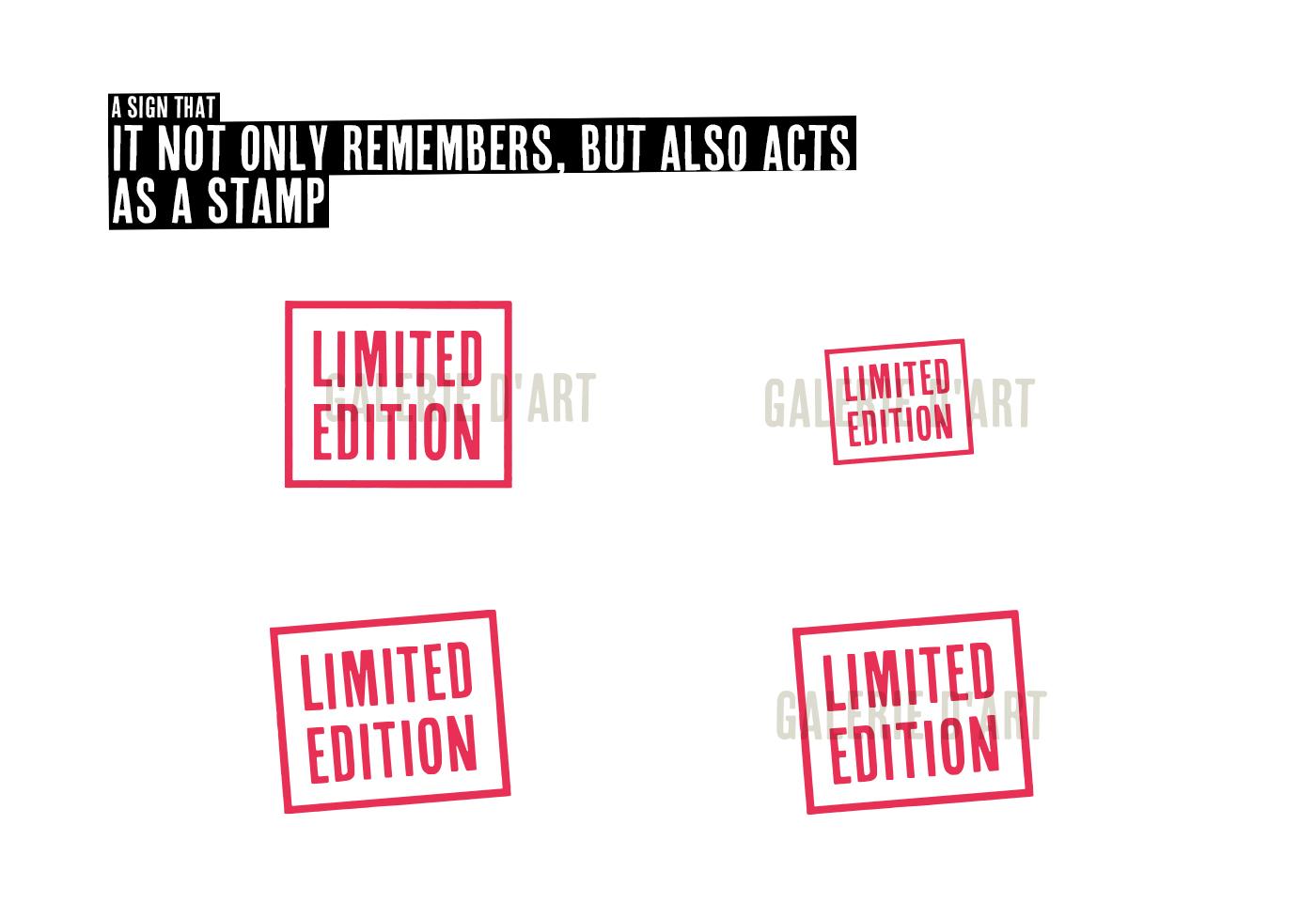 Identyfikacja wizualna galerii sztuki Limited Edition  - koncepcja logo