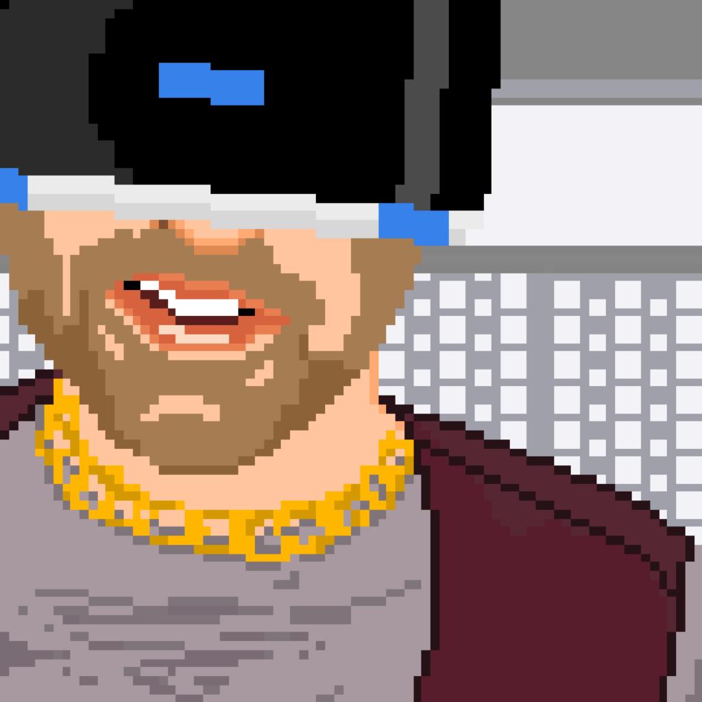 zapikselowana grafika mężczyzny w okularach VR