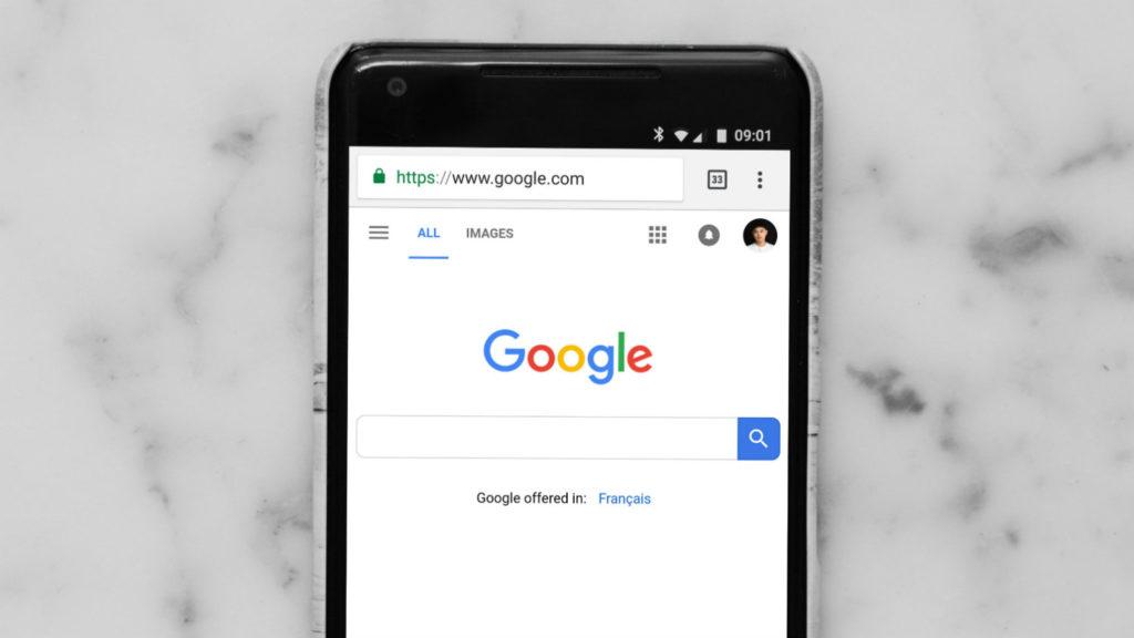 Mobilna wersja wyszukiwarki Google