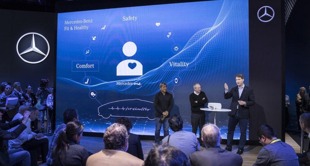 prezentacja zespołu Mercedes-Benz podczas konferencji CES 2017