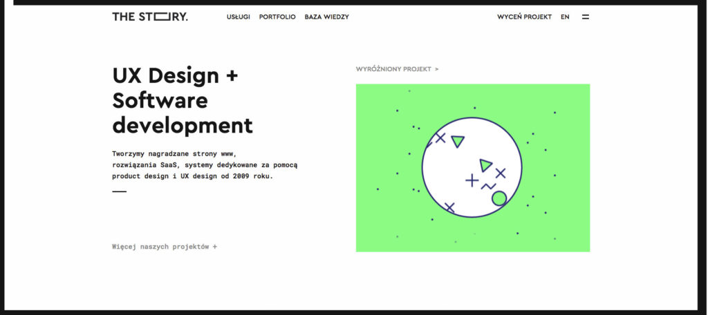 minimalizm w designie na przykładzie strony internetowej TheStory.is