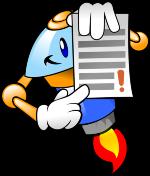 robot trzymający listę zasad