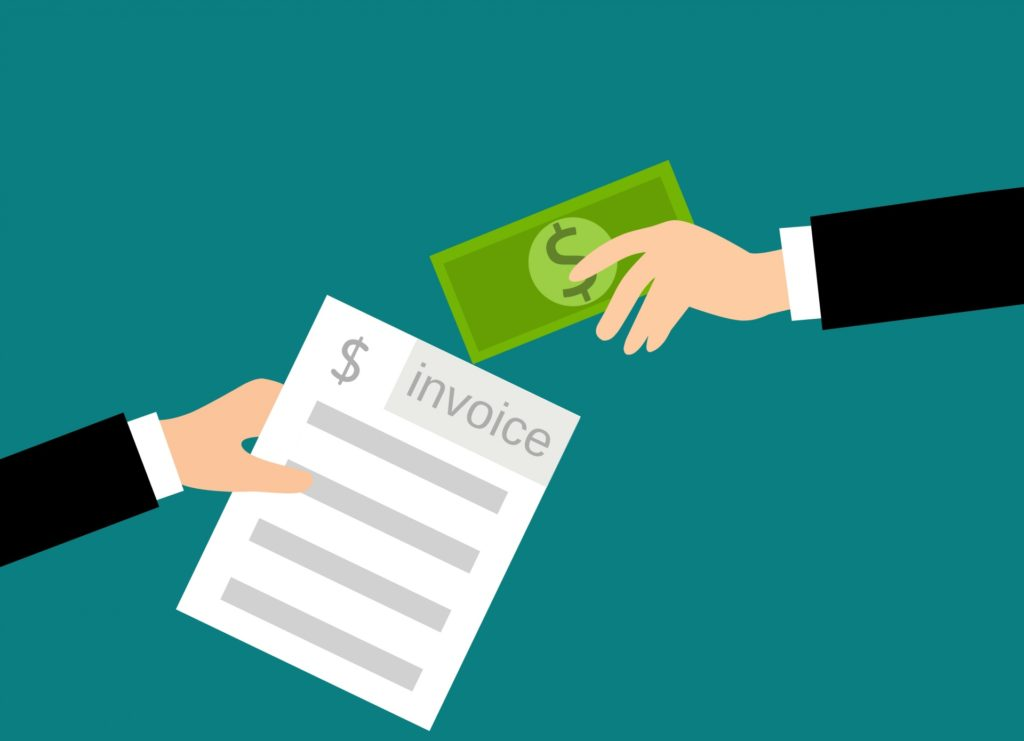 ilustracja przekazanie płatności za fakturę