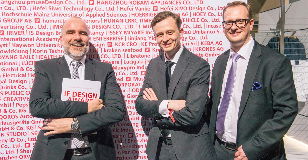 Mike Jagielski Dymitr Romanowski i Yaroslav Shatkevich na IF Design Awards