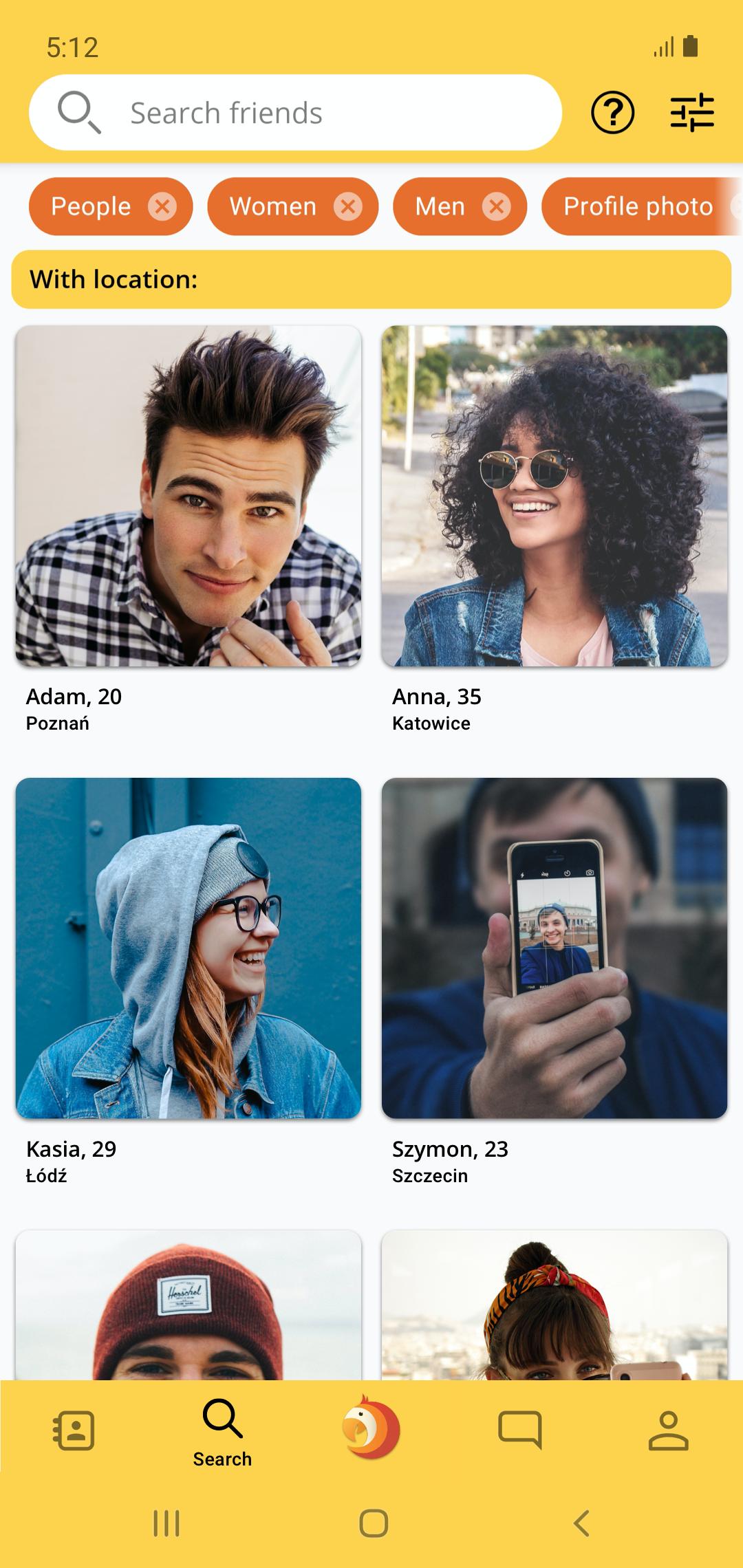 Dzięki aplikacji ParrotOne można poznawać nowych ludzi.