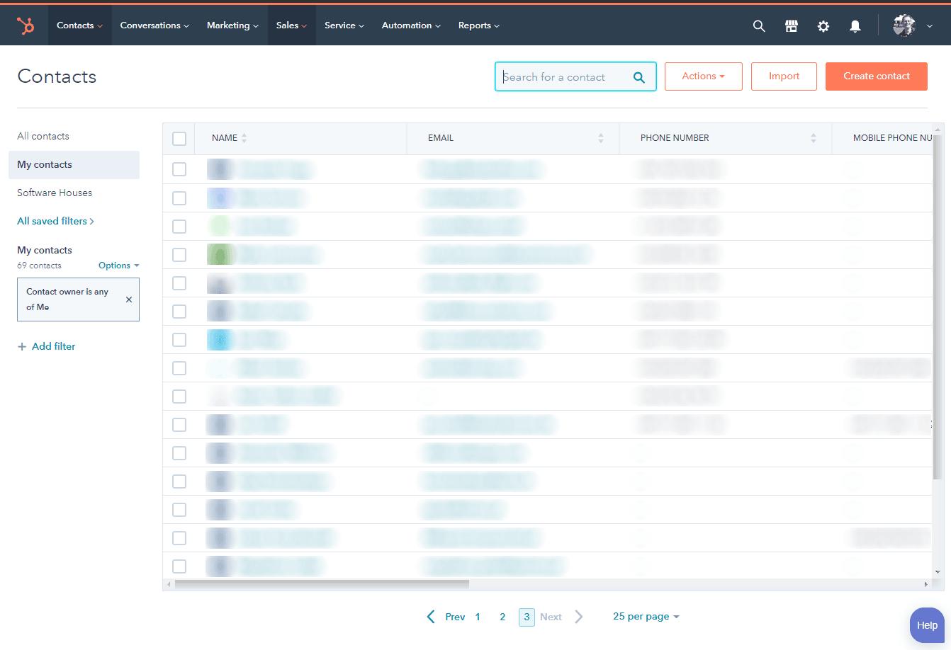 HubSpot sprawdza się doskonale jako narzędzie do przechowywania danych.