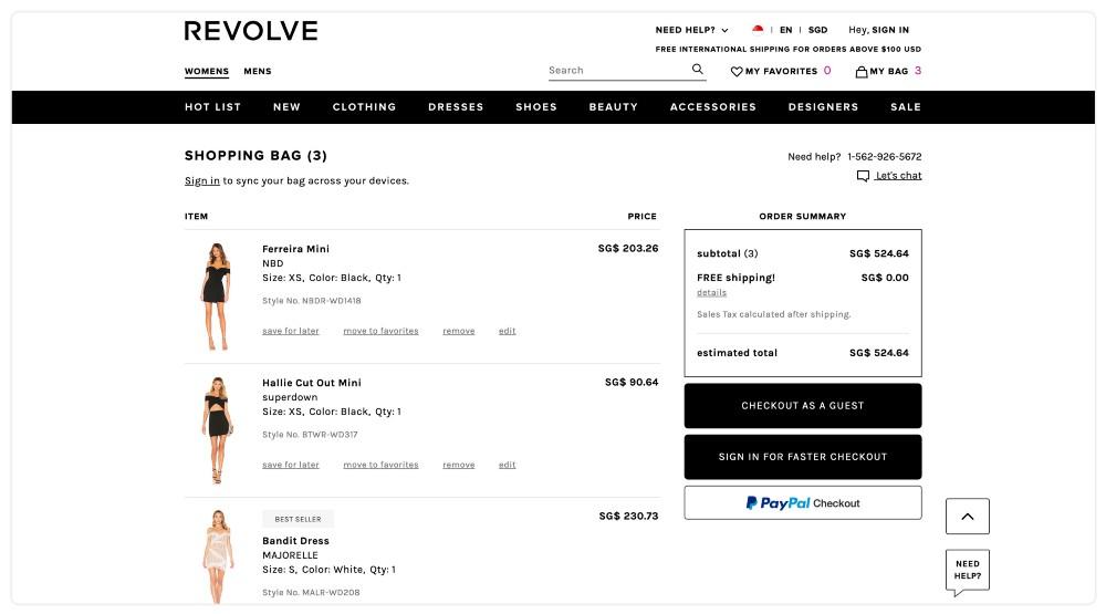 Przykład sklepu internetowego, który umożliwia zakup bez dokonywania rejestracji użytkownika.