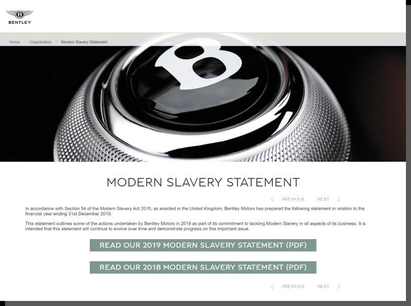CSR - wiarygodna strona internetowa Bentley