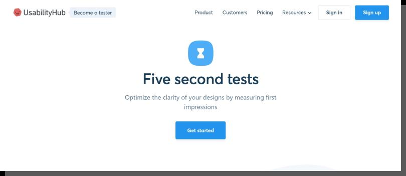 usabilityhub - dobre pierwsze wrażenie