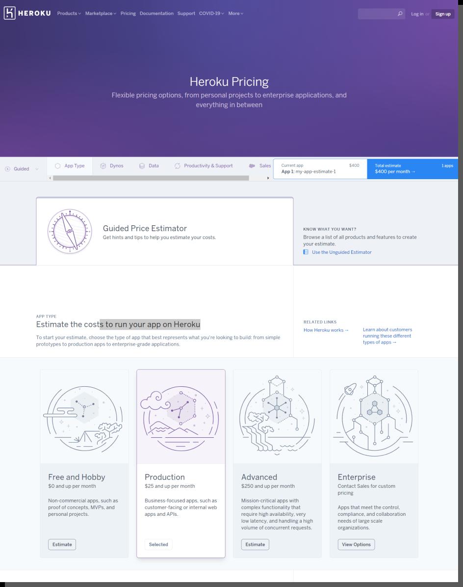 Heroku - projektowanie cen b2b