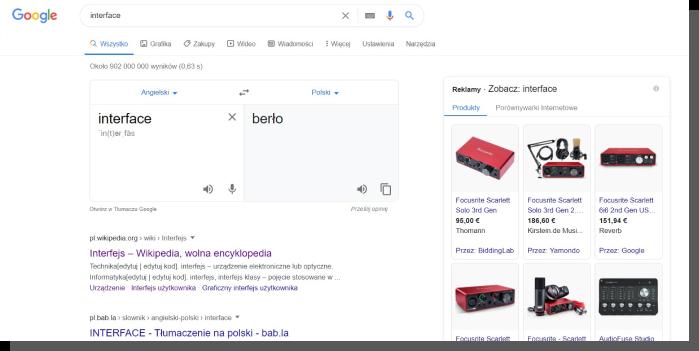 projektowanie interfejsu - Google