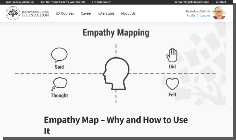 mapa empatii - co to, przykład