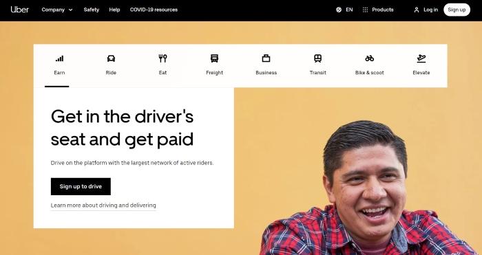startup przykład - Uber