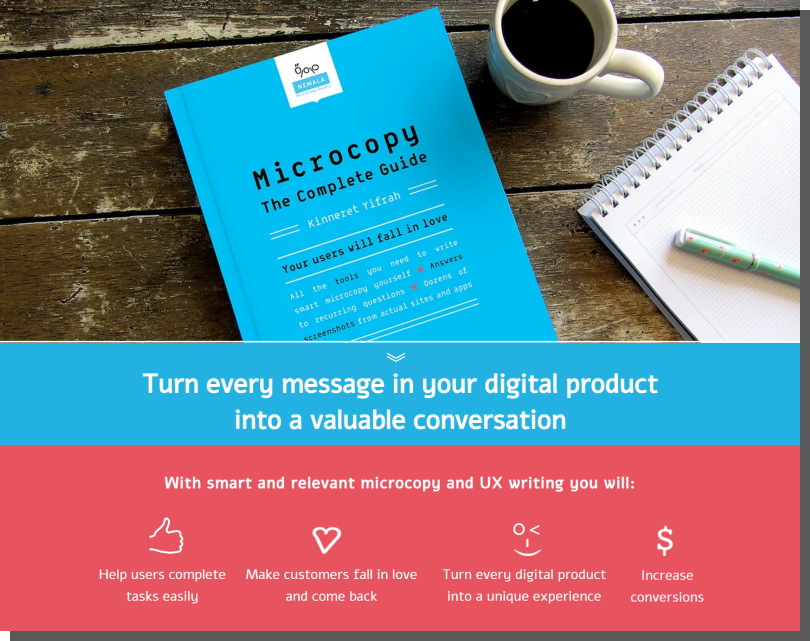 microcopy, ux writing - poradnik