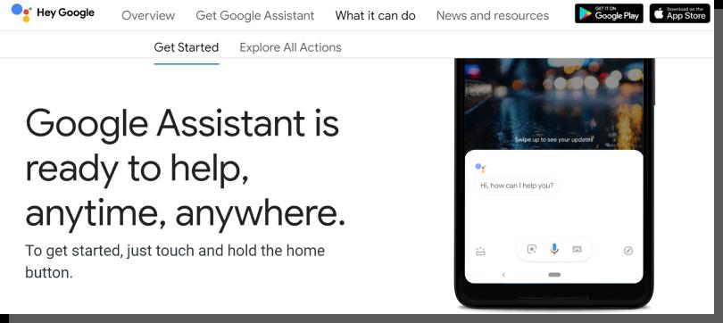 google assistant - projektowanie interfejsów