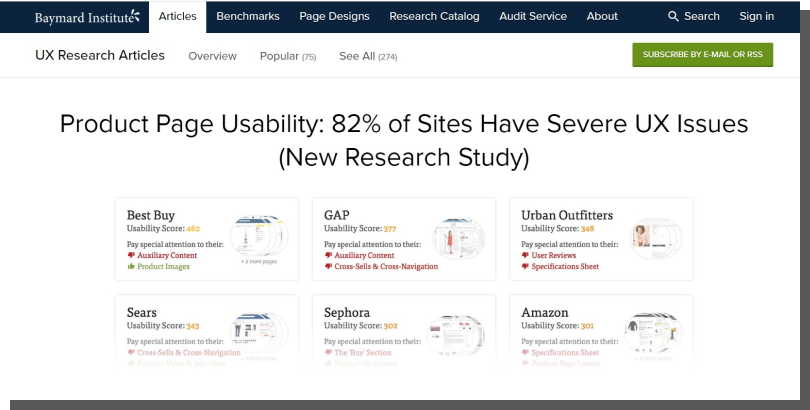 ux research strony produktowe ecommerce