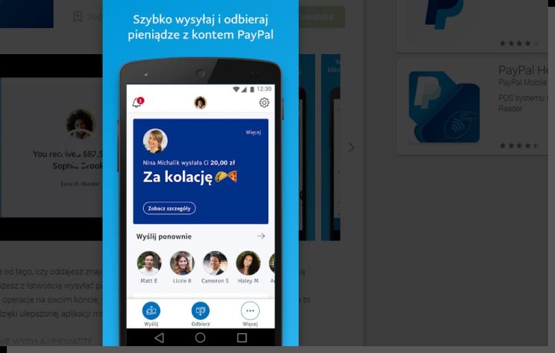 mobilne płatności w e-commerce - PayPal