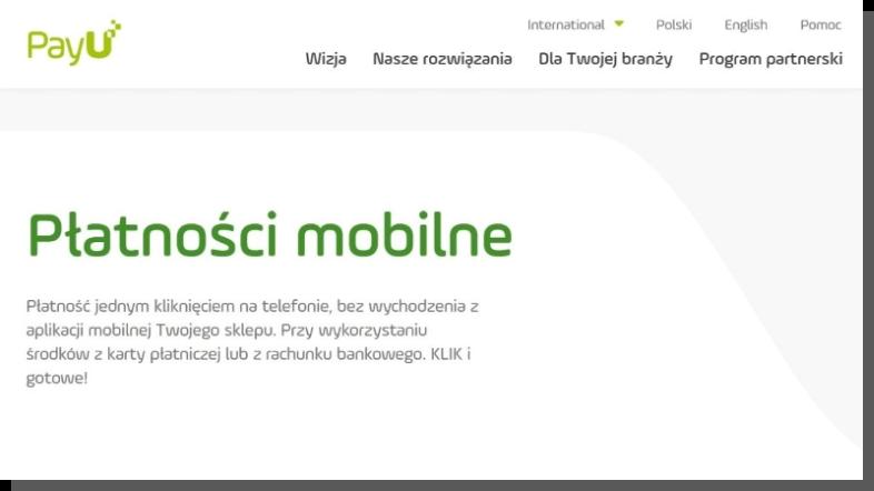 ecommerce płatności mobilne - PayU