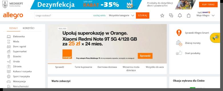 e-commerce zakupy - Allegro