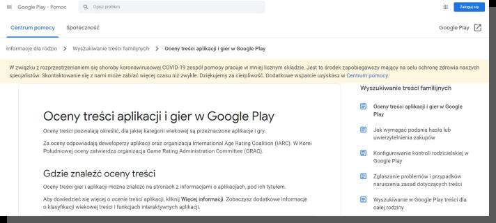 aplikacje dla dzieci - google play