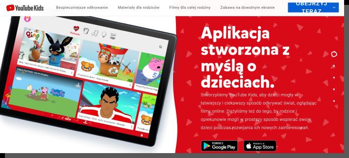 aplikacja mobilna dla dzieci - youtube kids