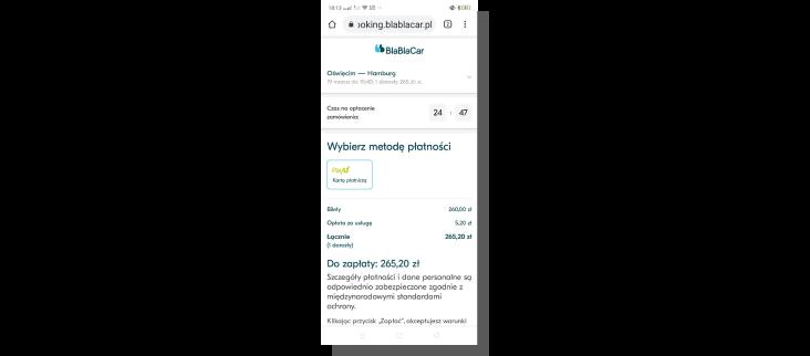 blablacar - projektowanie formularza i interfejsu ux