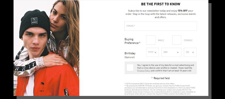 konwersja w sklepie internetowym - sklep puma