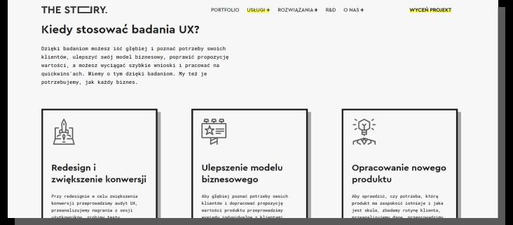 badania ux - oferta agencji ux the story