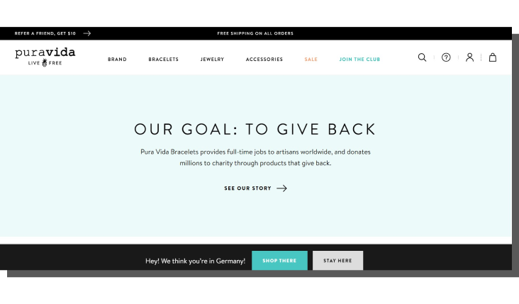 ux e commerce - strona główna