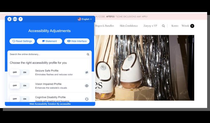 trendy e-commerce - personalizacja