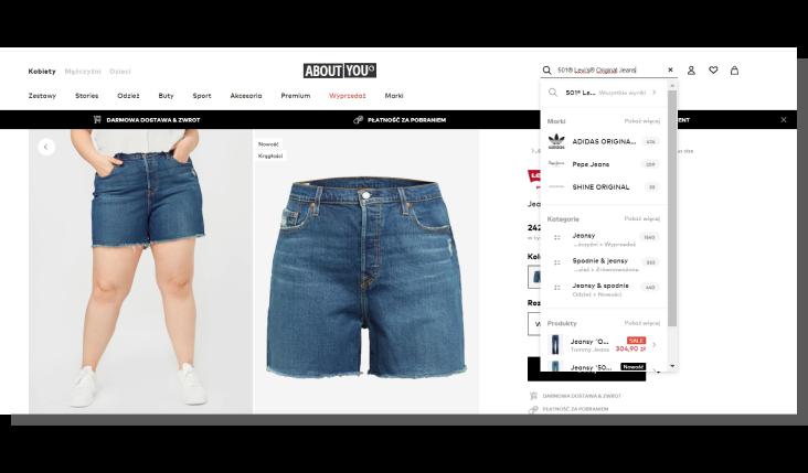 sortowanie produktu e commerce