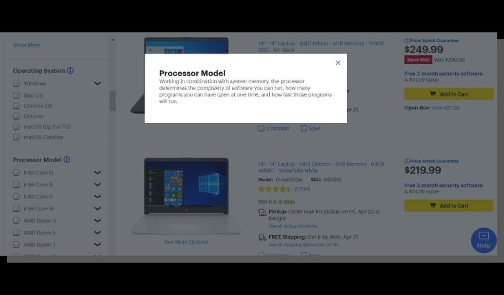 opis produktu e-commerce a filtrowanie produktów