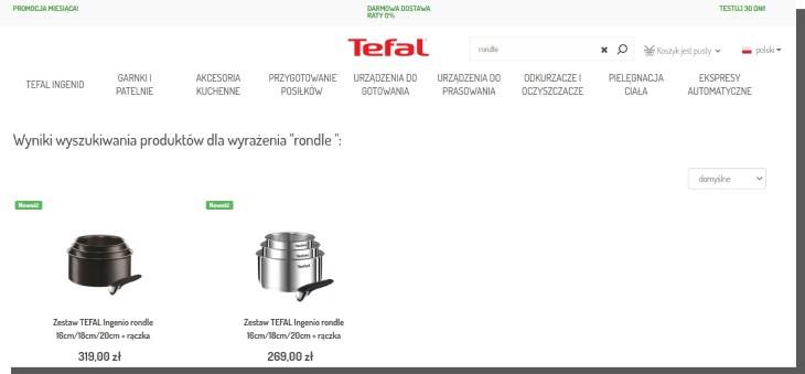 wyszukiwanie produktów w sklepie internetowym