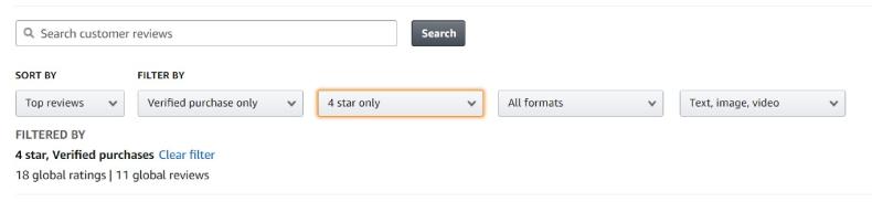 sortowanie i filtrowanie ocen w sklepie internetowym - amazon