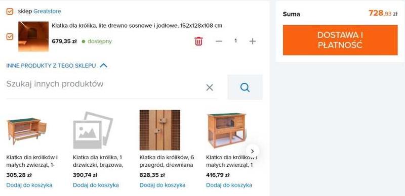 produkty powiązane - optymalizacja koszyka w sklepie internetowym