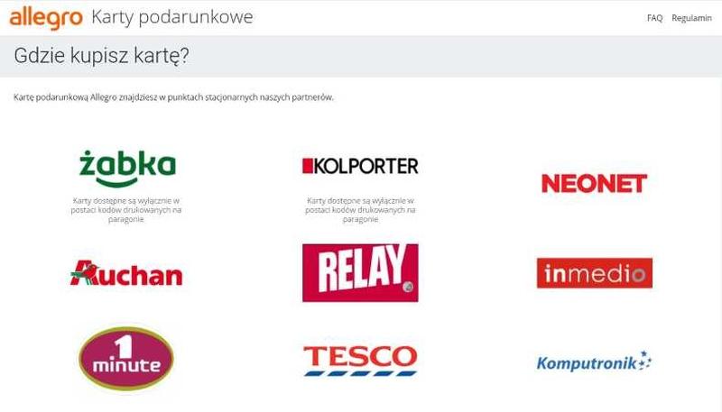 karty podarunkowe w e-commerce