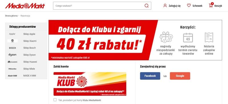 ux sklepu internetowego - rejestracja