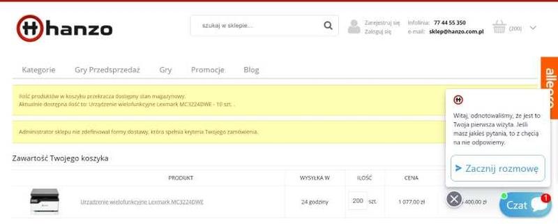 sklep internetowy - błędy w e-commerce