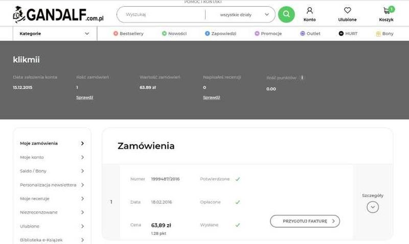 podsumowanie zamówienia e-commerce
