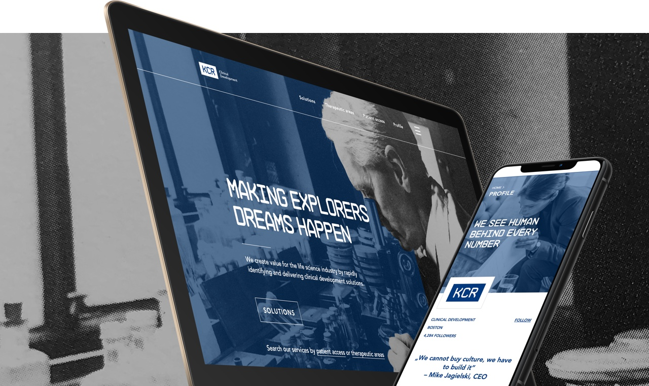 Corporate website for a clinical research company