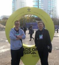 Yaroslav (CTO) and Krzysiek (UX researcher) at WebSummit in Lisbon.